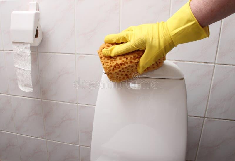 Limpieza del WC. fotografía de archivo libre de regalías
