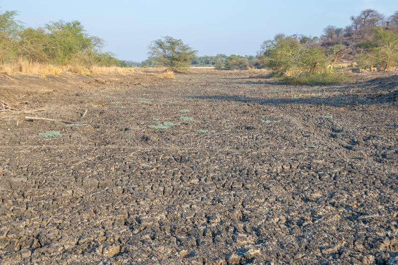 Limpopo river pre-rain dry flood plains in South Africa royalty free stock photo