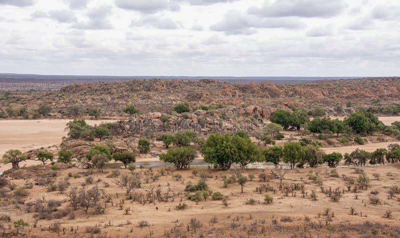 Limpopo rzeki krajobraz zdjęcie royalty free