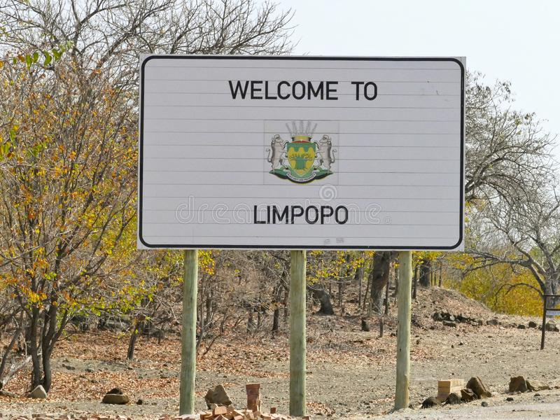 Limpopo sign - travel destination in Africa. Limpopo sign - travel destination in South Africa royalty free stock photos