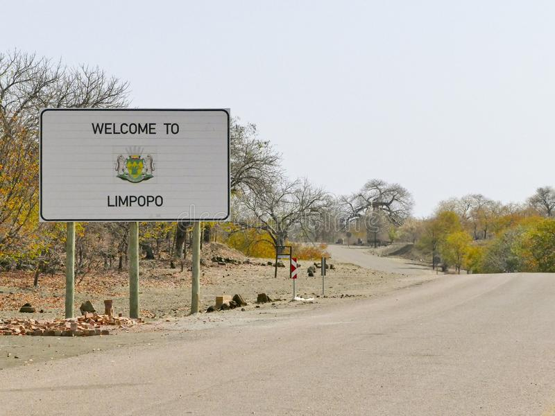 Limpopo sign - travel destination in Africa. Limpopo sign - travel destination in South Africa stock photo