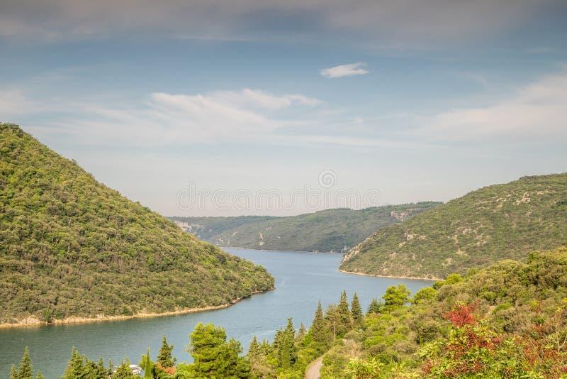 Limski运河- Istrian半岛地标  图库摄影