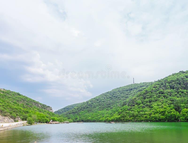Limski运河Limski海湾在Istria 免版税库存照片