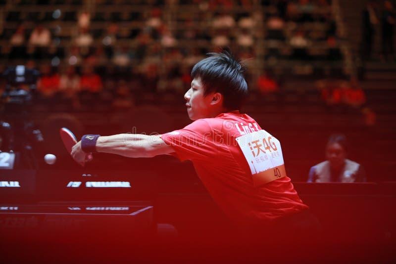 LIN Gaoyuan backhand obrazy royalty free