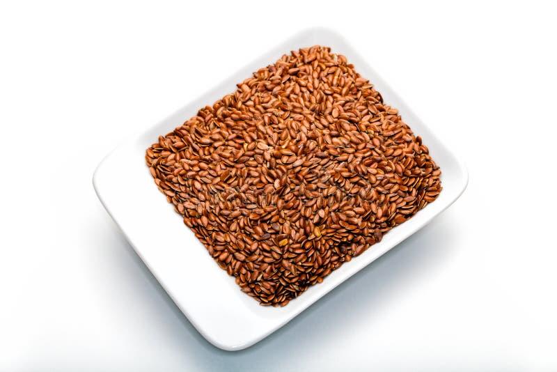 Lin, semences d'oeillette photo libre de droits