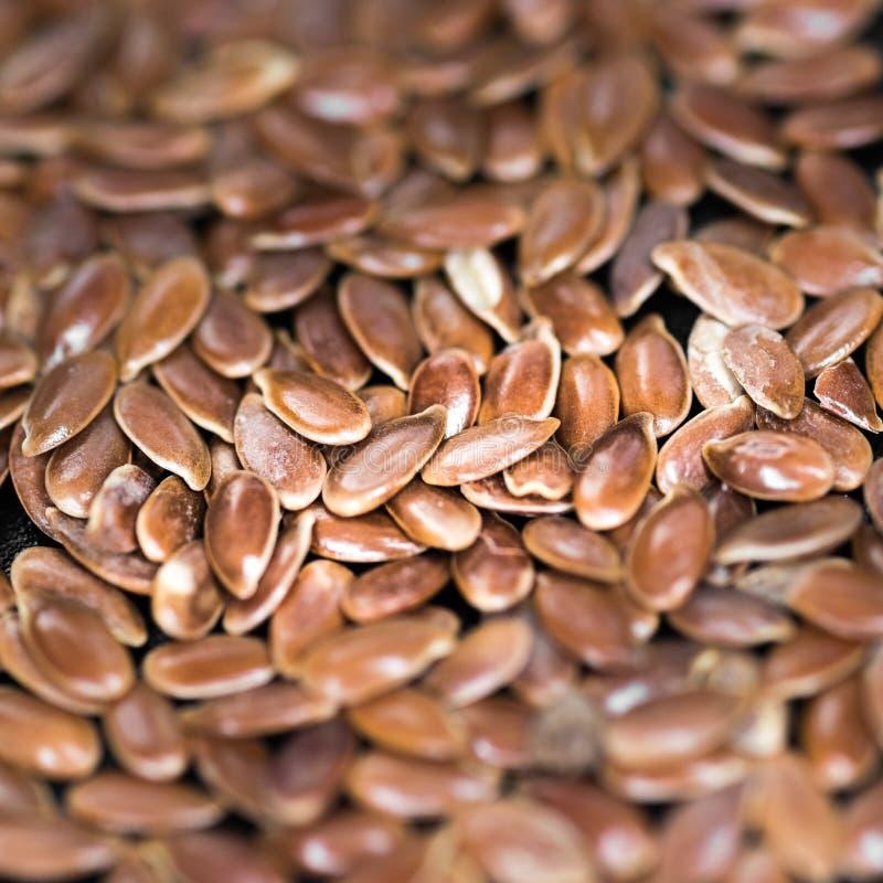 Linazas o semillas de lino aisladas en el fondo oscuro - comida sana, desayuno, estímulo de la digestión, buena comida foto de archivo