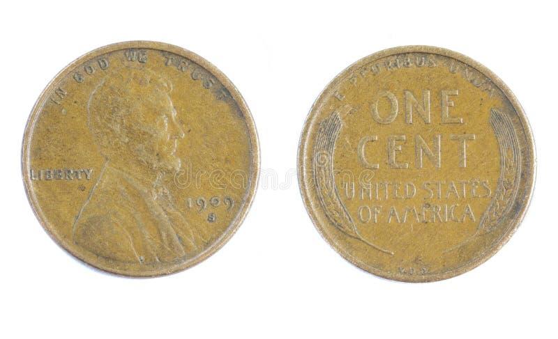 Lincoln banatki cent zdjęcie royalty free