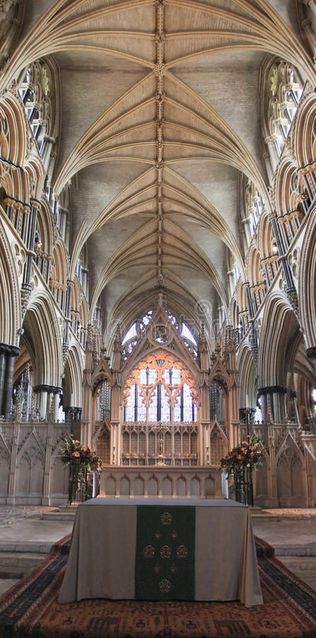 Lincoln Cathedral Altar fotografia de stock