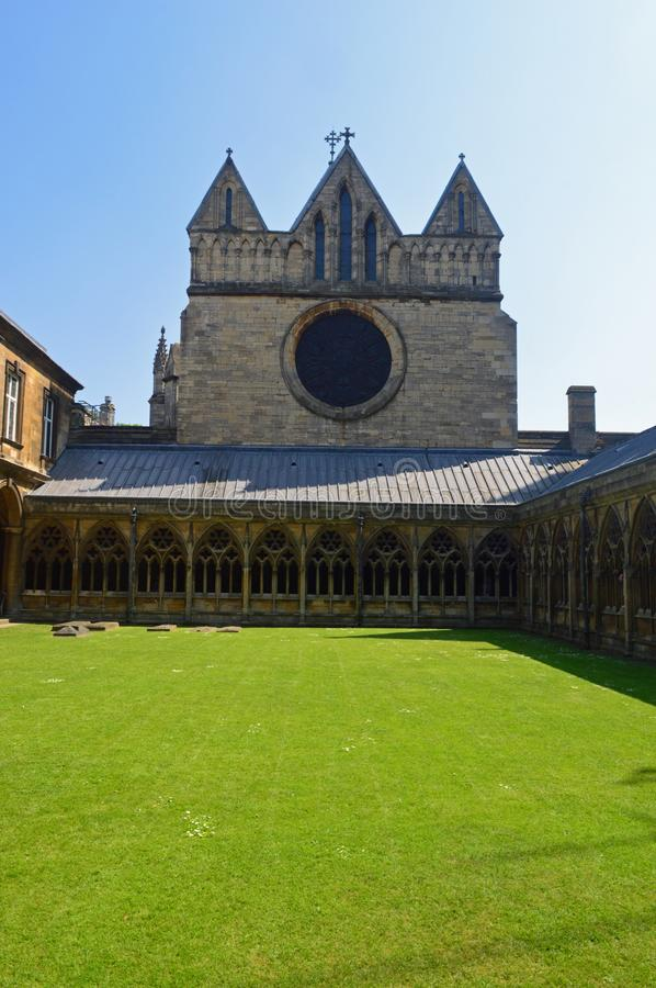 Lincoln Cathedral cloisters. The Cloisters court at the anglican Lincoln Cathedral, lincolnshire in may royalty free stock photo