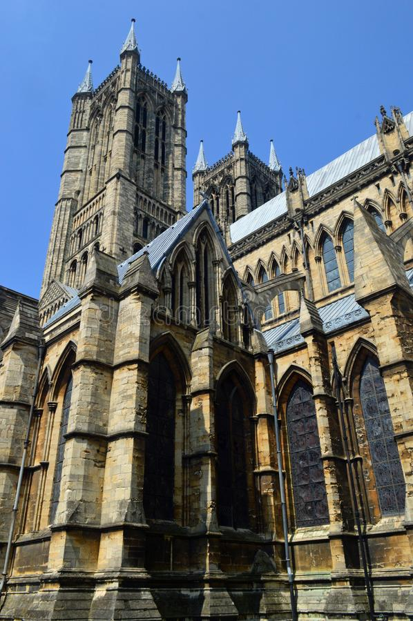 Lincoln Cathedral Exterior royalty-vrije stock foto
