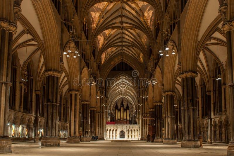 Lincoln Cathedral, Inglaterra fotos de stock royalty free