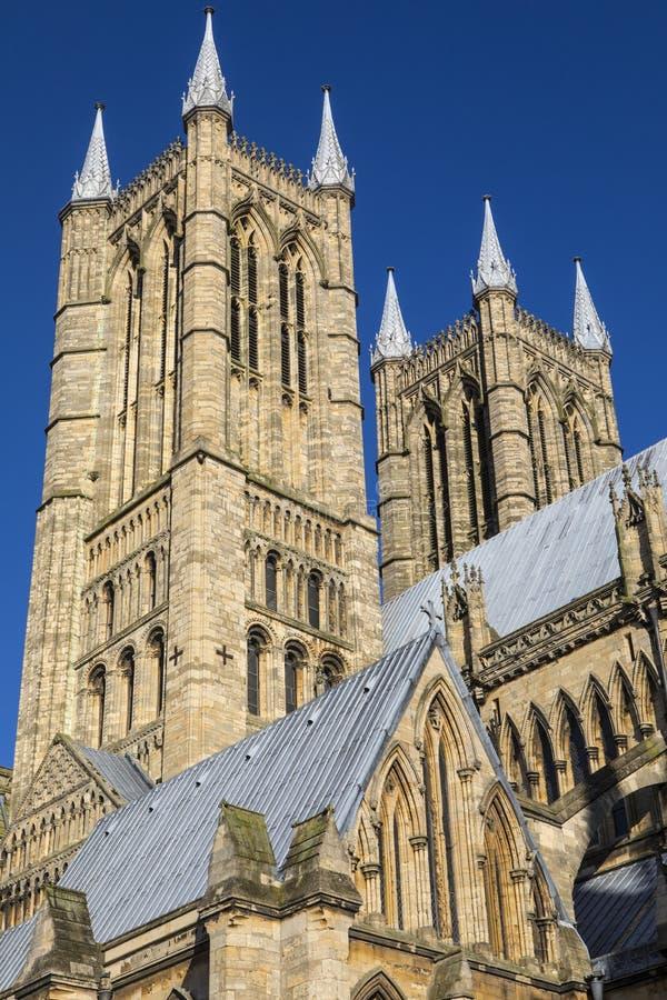 Lincoln Cathedral in Lincoln het UK royalty-vrije stock fotografie