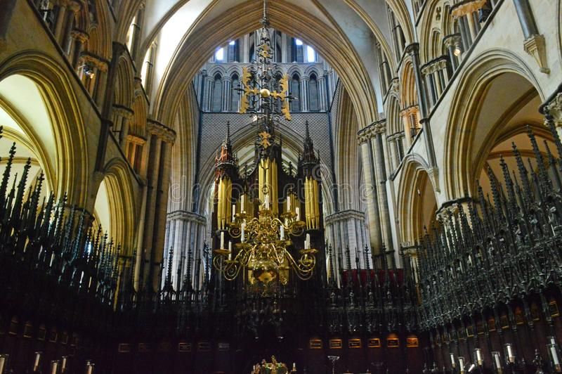 Lincoln Cathedral St Hughs Choir foto de stock