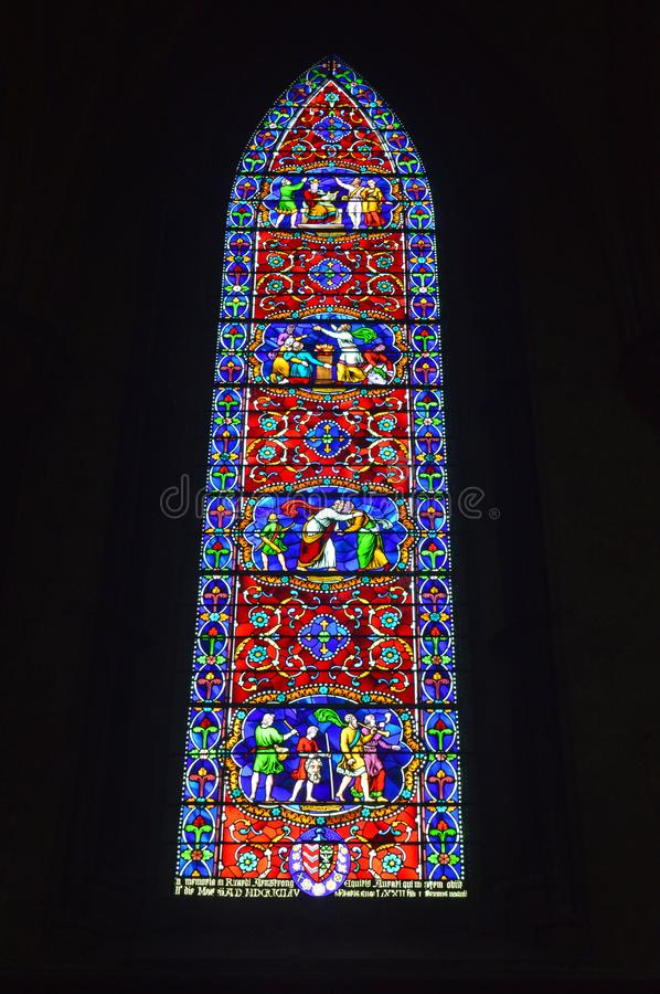 Lincoln Cathedral Window royalty-vrije stock foto's