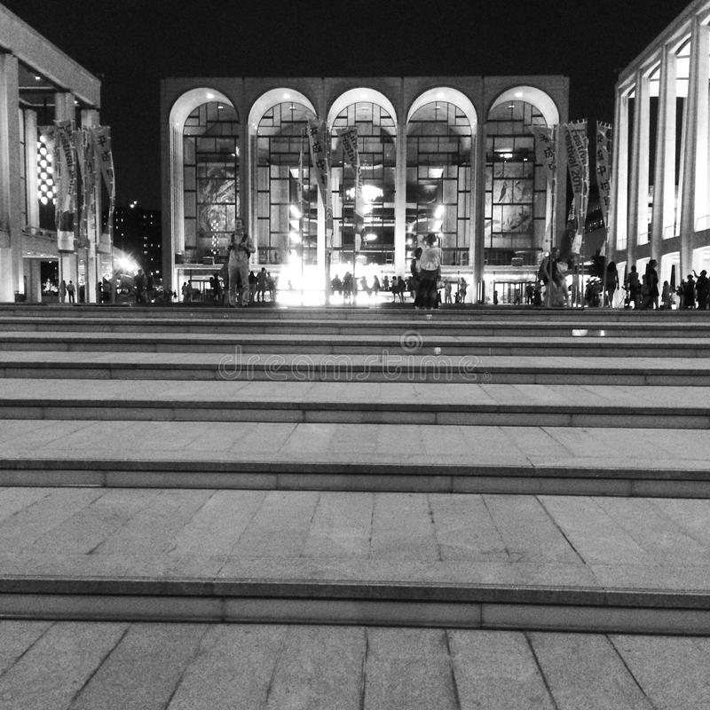 Lincoln Center B&W imagenes de archivo