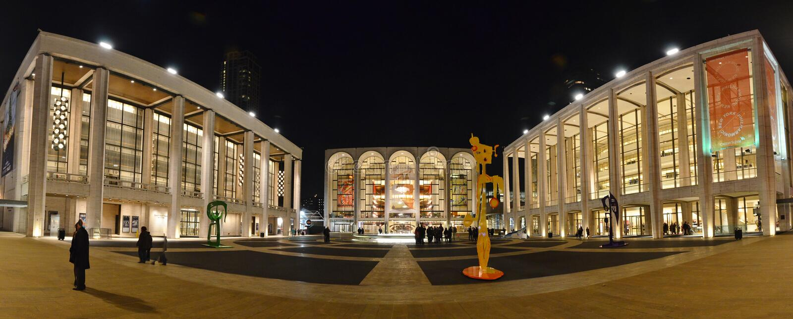 Lincoln Center Panorama - New York City royalty free stock photography