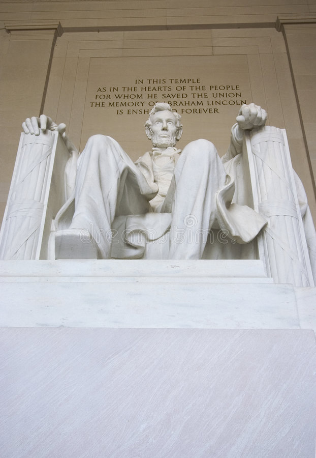 Lincoln-Denkmal stockbilder