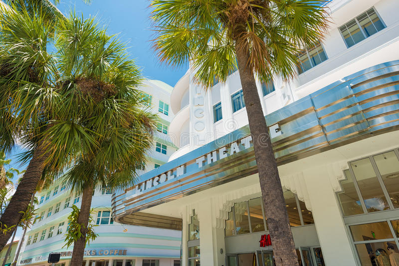 Lincoln Drogowy bulwar w południe plaży, Miami obraz stock