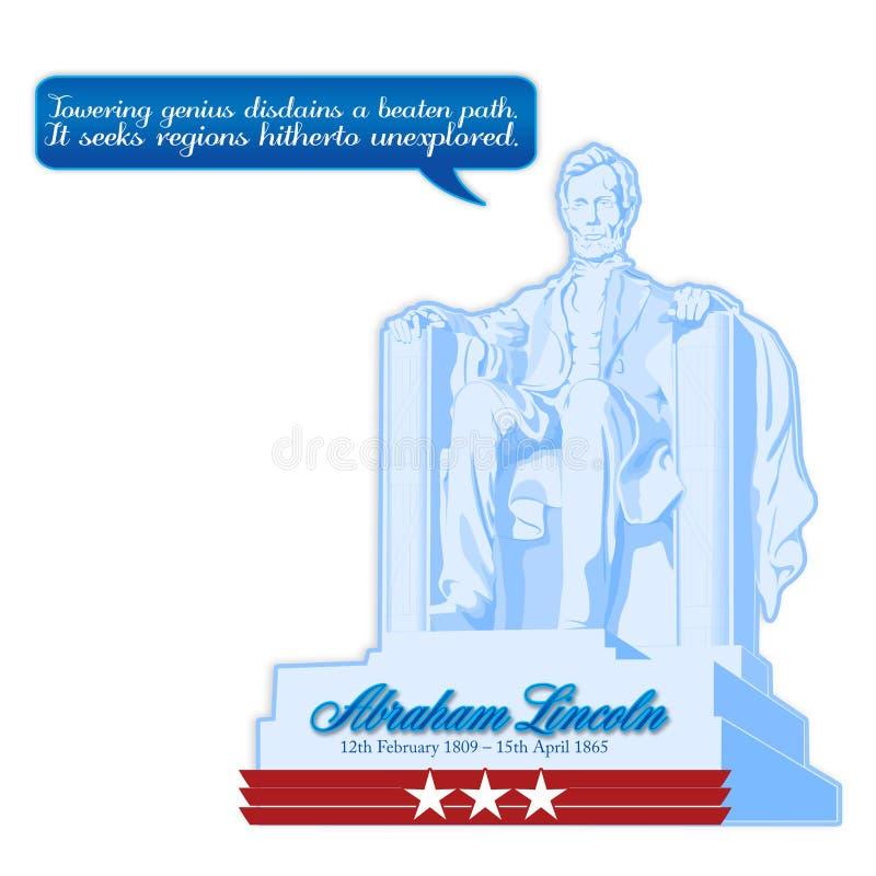 Lincoln dzień ilustracji