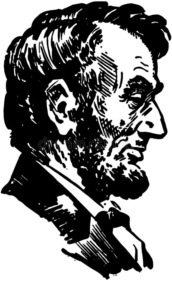 Lincoln Head stock de ilustración