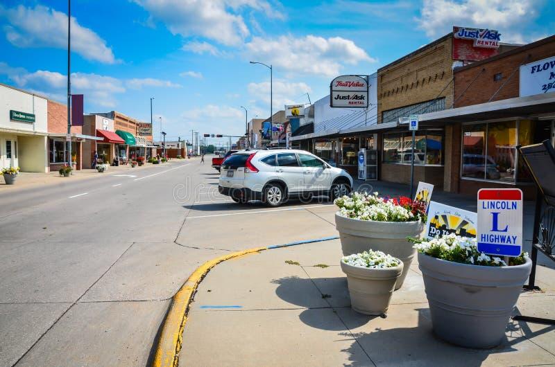 Lincoln Highway - Ogallala, Nebraska royalty-vrije stock fotografie