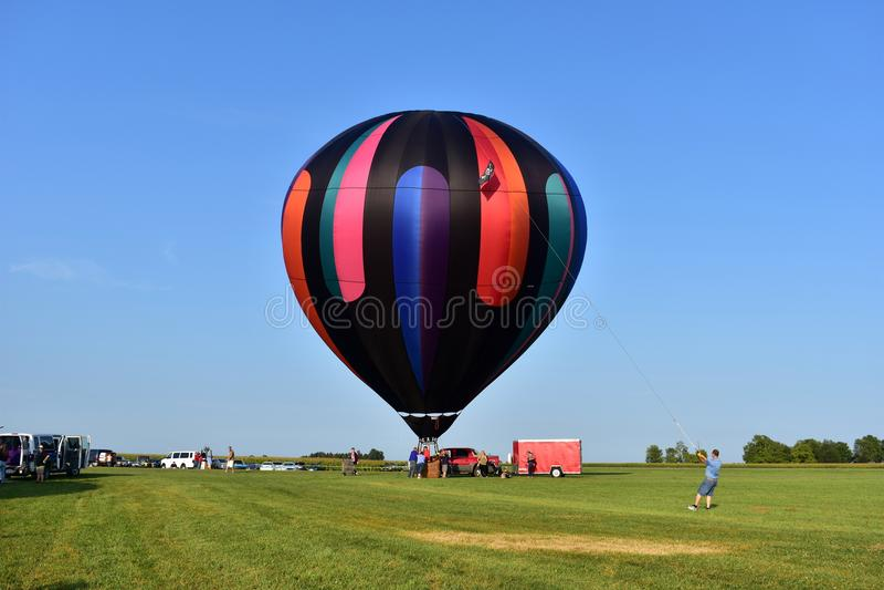 Lincoln, Illinois - USA - 25. August 2017: Vogel-Luft-Ballon-Festival lizenzfreie stockbilder