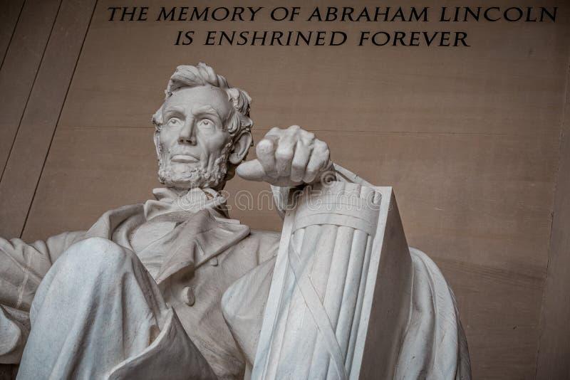 Lincoln legaten av en president arkivbilder