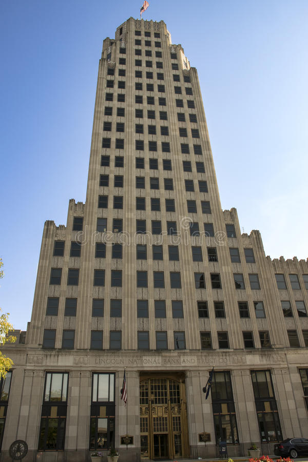 Lincoln Life Building Fort Wayne Indiana images stock