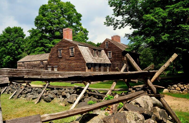 Lincoln, MA: Historische Hartwell-Taverne 1732 lizenzfreies stockbild