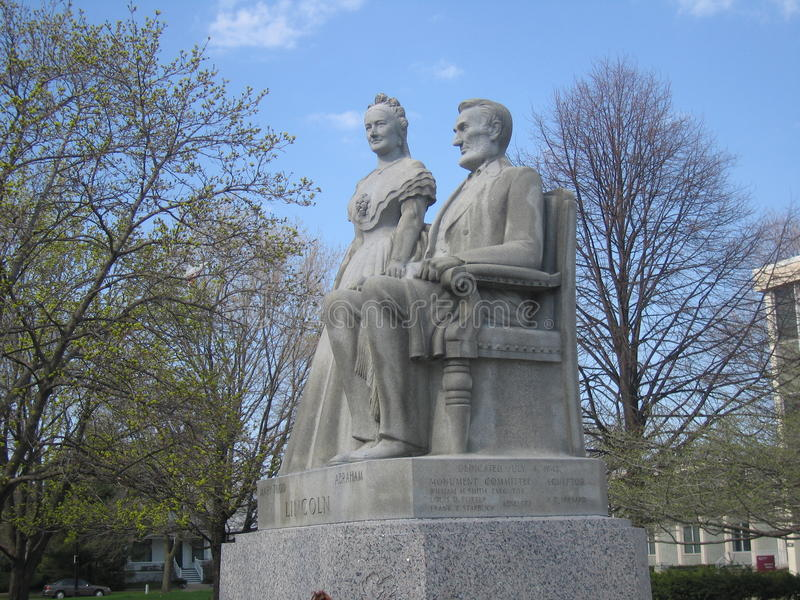 Lincoln and Mary stock image