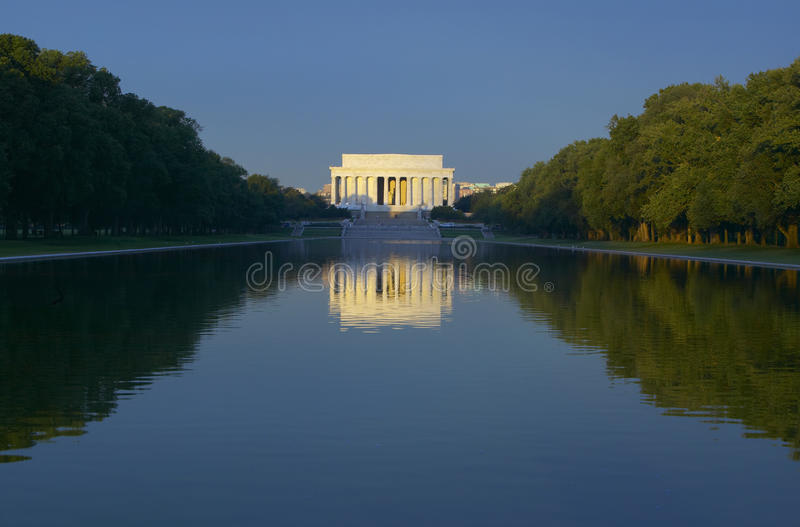 The Lincoln Memorial stock images