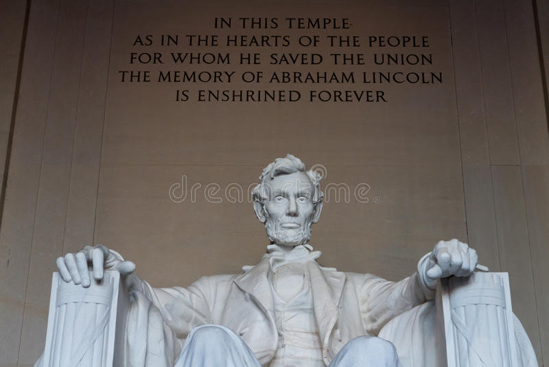 Lincoln Memorial. royaltyfri fotografi