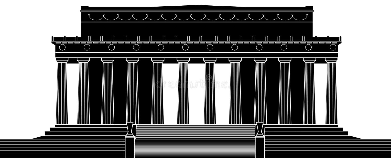 Lincoln Memorial stock illustratie