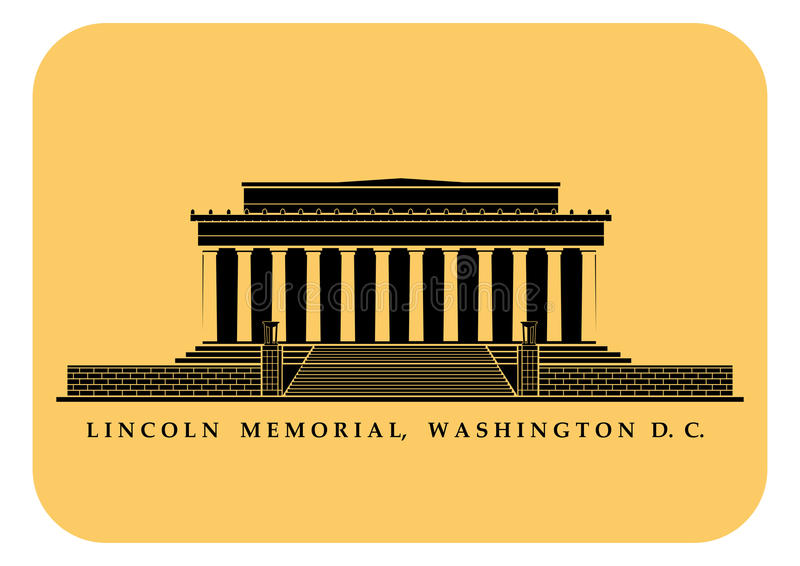 Lincoln Memorial illustration stock