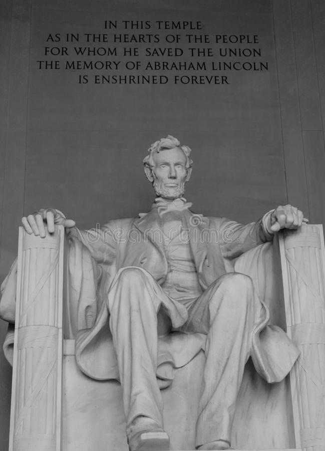 Lincoln Memorial in black and white, Washington D.C, royalty free stock images