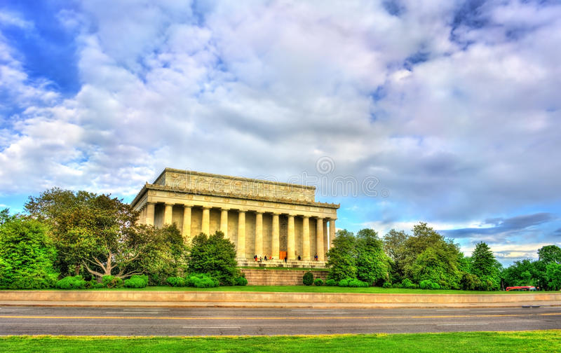 The Lincoln Memorial, an American national monument in Washington, D.C. United States stock image