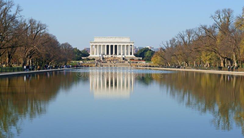 Lincoln Memorial, Amerikaans nationaal die monument wordt gebouwd om 16de President van Verenigde Staten, Abraham Lincoln te eren stock foto's