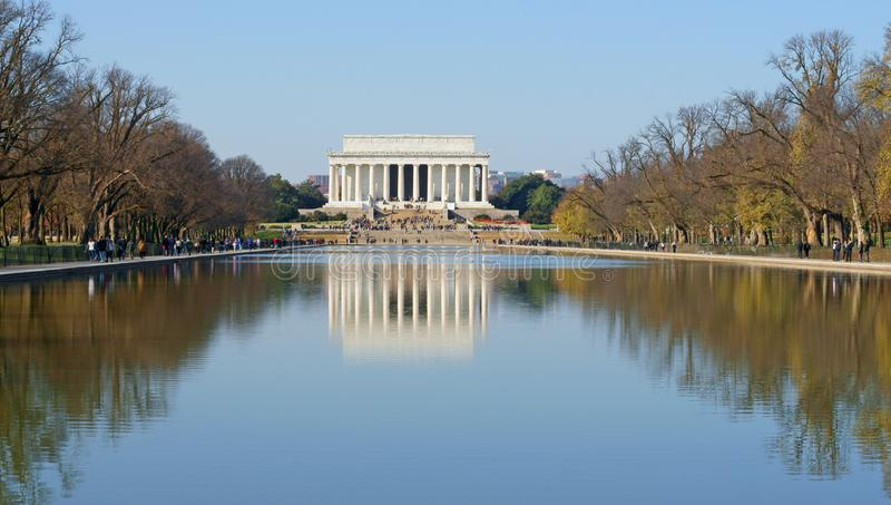 Lincoln Memorial amerikansk nationell monument som byggs för att hedra den 16th presidenten av Förenta staterna, Abraham Lincoln arkivfoton