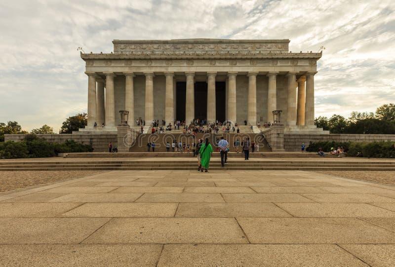 Lincoln Memorial bij Zonsondergang Het Witte Huis van Washington D C , de V royalty-vrije stock afbeeldingen
