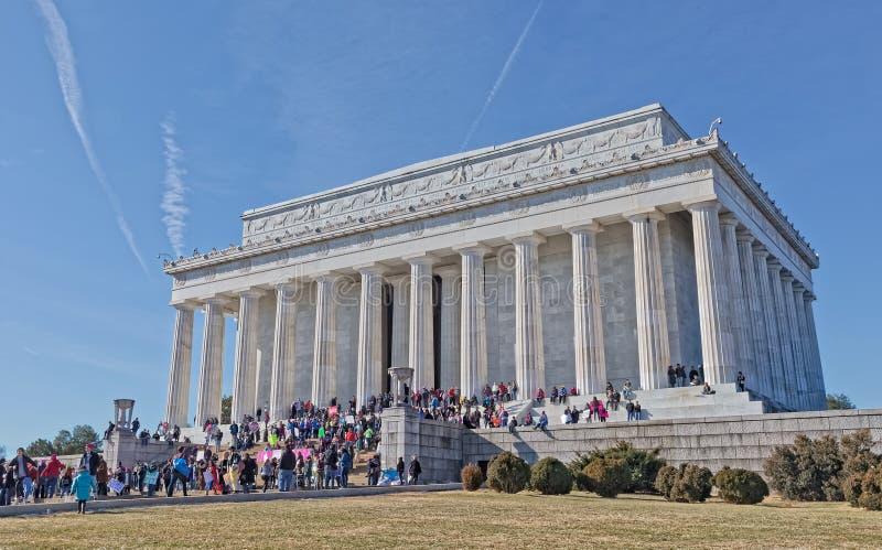 Lincoln Memorial Building dans le Washington DC Etats-Unis image stock