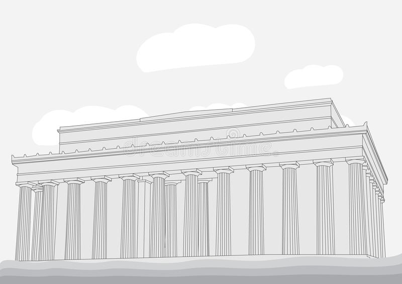 Lincoln Memorial Center ilustração stock