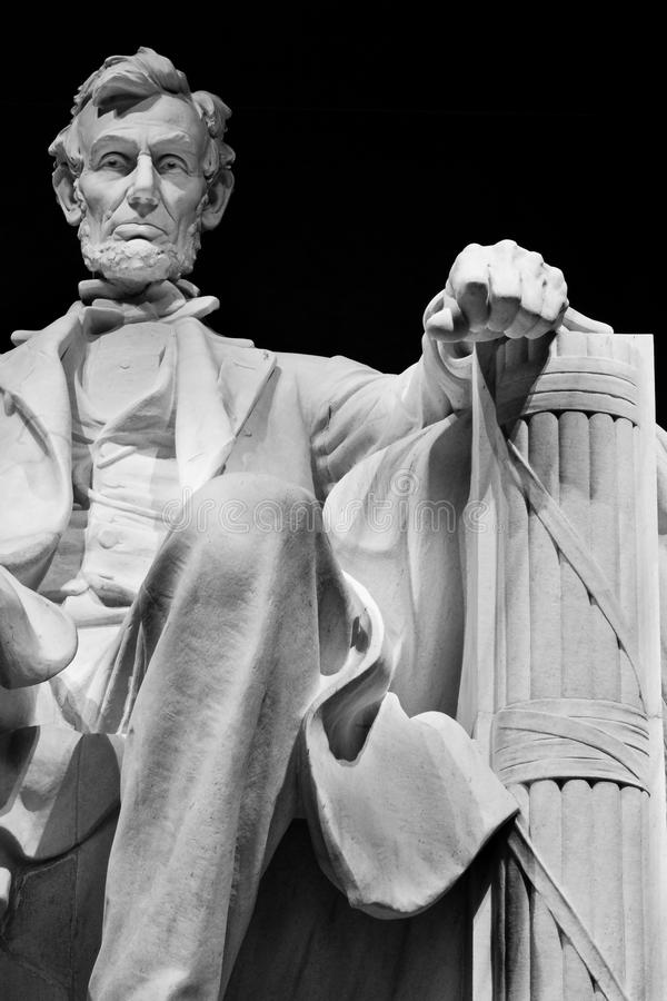 Lincoln Memorial. Lincoln in chair stock images
