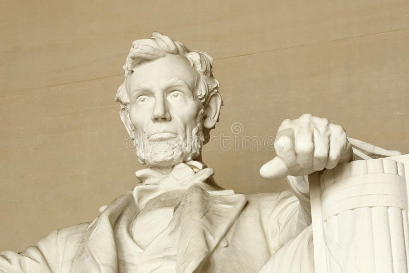 Lincoln memorial. Closeup view of Lincoln memorial at Washington DC stock photos