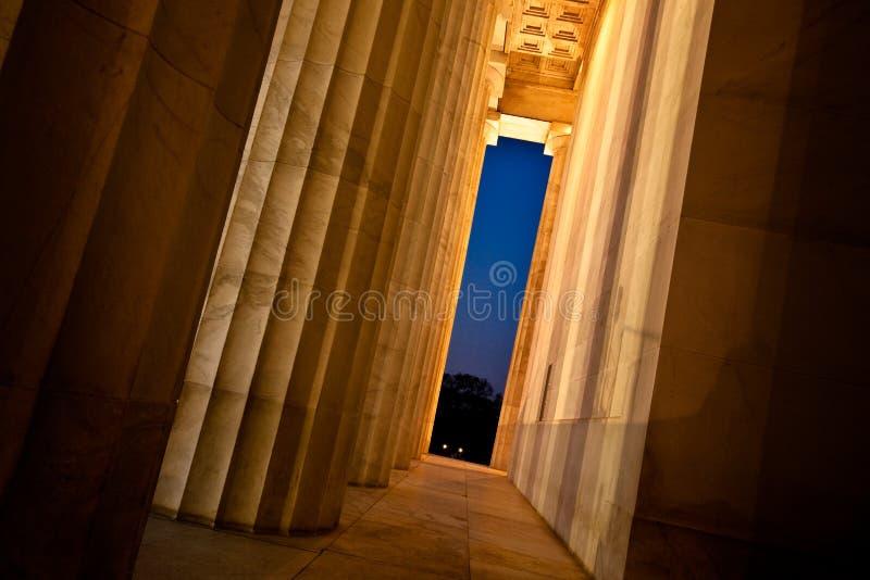 Lincoln Memorial Columns stockfotografie