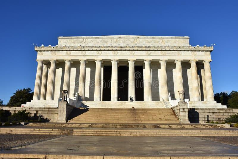 Lincoln Memorial exterior em Washington, C.C. fotografia de stock