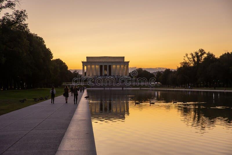 Lincoln Memorial i Washington royaltyfri fotografi