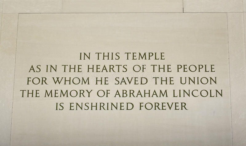 Download Lincoln Memorial Inscription Stock Photos - Image: 19926233