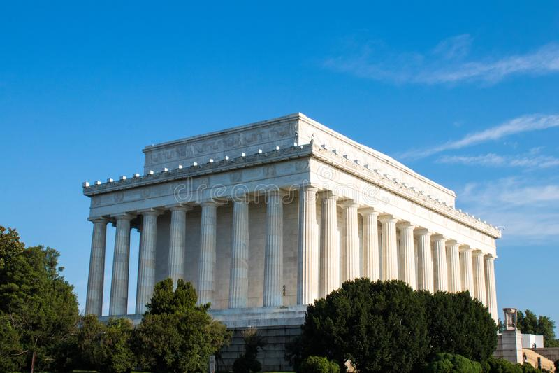 Lincoln Memorial majestuoso, Washington D C, foto de archivo