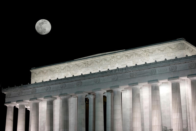 Download Lincoln memorial at night stock image. Image of capitol - 15136489