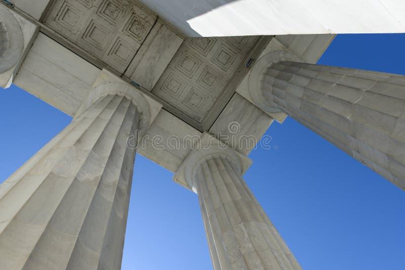 Lincoln Memorial Pillars fotografía de archivo libre de regalías